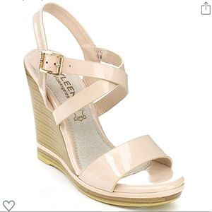 Kayleen Patent Leather Wedge Sandals 👡